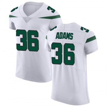 Men's Nike New York Jets Josh Adams Spotlight White Vapor Untouchable Jersey - Elite