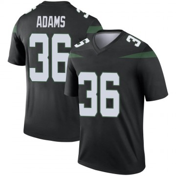 Men's Nike New York Jets Josh Adams Stealth Black Color Rush Jersey - Legend