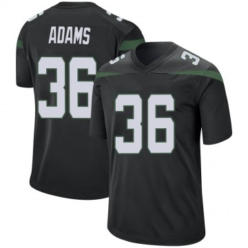 Men's Nike New York Jets Josh Adams Stealth Black Jersey - Game