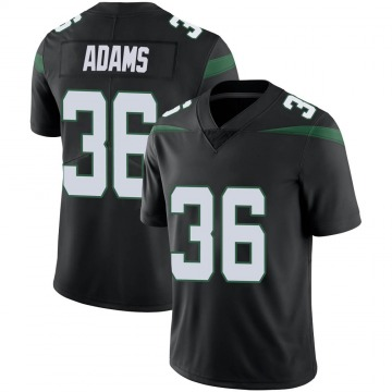 Men's Nike New York Jets Josh Adams Stealth Black Vapor Jersey - Limited