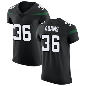 Men's Nike New York Jets Josh Adams Stealth Black Vapor Untouchable Jersey - Elite