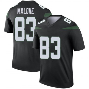 Men's Nike New York Jets Josh Malone Stealth Black Color Rush Jersey - Legend