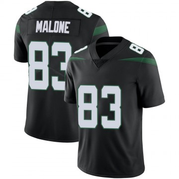 Men's Nike New York Jets Josh Malone Stealth Black Vapor Jersey - Limited