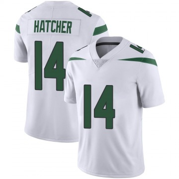 Men's Nike New York Jets Keon Hatcher Spotlight White Vapor Jersey - Limited
