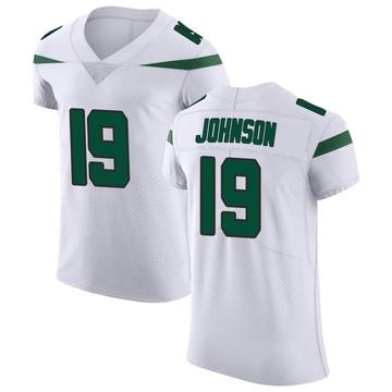 Men's Nike New York Jets Keyshawn Johnson Spotlight White Vapor Untouchable Jersey - Elite