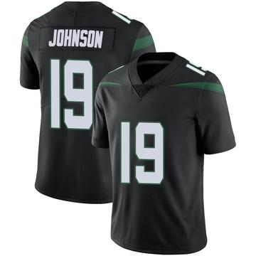 Men's Nike New York Jets Keyshawn Johnson Stealth Black Vapor Jersey - Limited