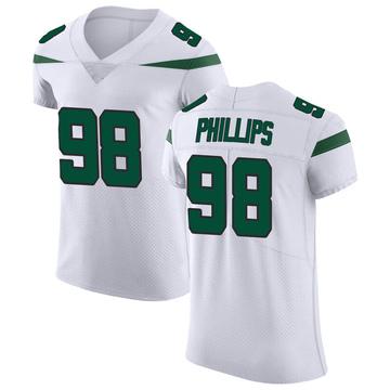Men's Nike New York Jets Kyle Phillips Spotlight White Vapor Untouchable Jersey - Elite