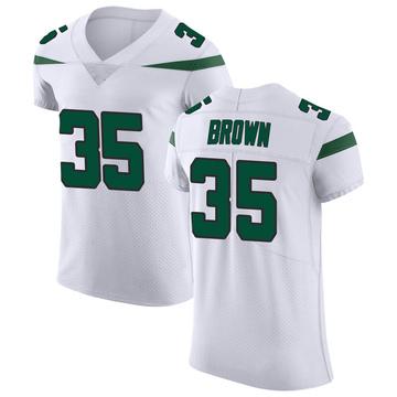 Men's Nike New York Jets Kyron Brown Spotlight White Vapor Untouchable Jersey - Elite