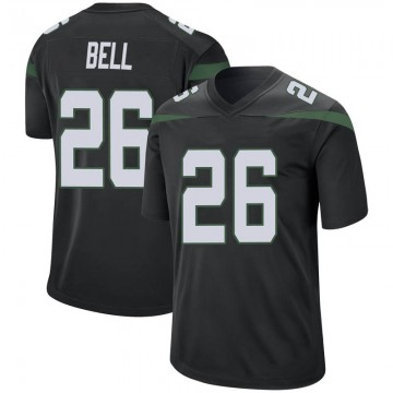 Men's Nike New York Jets Le'Veon Bell Stealth Black Jersey - Game
