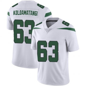 Men's Nike New York Jets Leo Koloamatangi Spotlight White Vapor Jersey - Limited