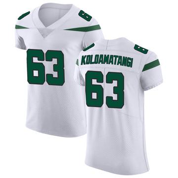 Men's Nike New York Jets Leo Koloamatangi Spotlight White Vapor Untouchable Jersey - Elite