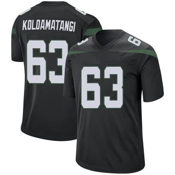 Men's Nike New York Jets Leo Koloamatangi Stealth Black Jersey - Game