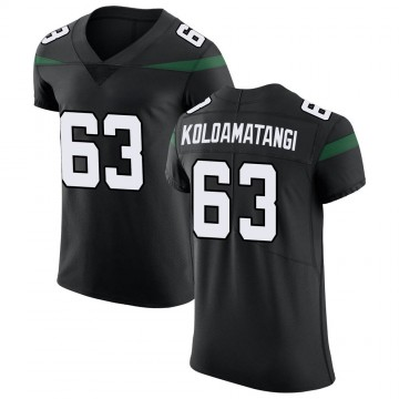 Men's Nike New York Jets Leo Koloamatangi Stealth Black Vapor Untouchable Jersey - Elite