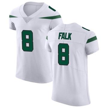 Men's Nike New York Jets Luke Falk Spotlight White Vapor Untouchable Jersey - Elite