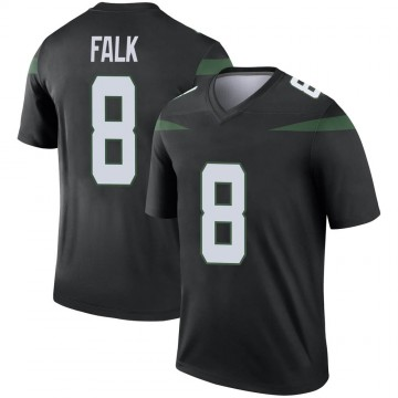 Men's Nike New York Jets Luke Falk Stealth Black Color Rush Jersey - Legend