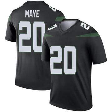 Men's Nike New York Jets Marcus Maye Stealth Black Color Rush Jersey - Legend