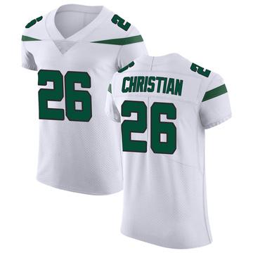 Men's Nike New York Jets Marqui Christian Spotlight White Vapor Untouchable Jersey - Elite