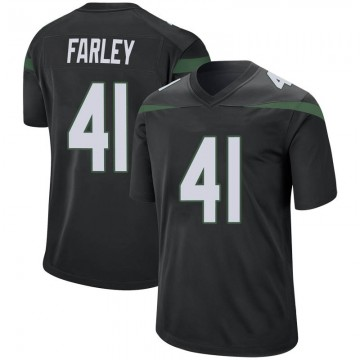 Men's Nike New York Jets Matthias Farley Stealth Black Jersey - Game