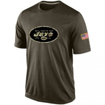 Men's New York Jets Olive Salute To Service KO Performance Dri-FIT T-Shirt -
