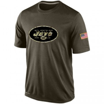 Men's Nike New York Jets Olive Salute To Service KO Performance Dri-FIT T-Shirt -