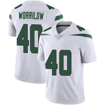 Men's Nike New York Jets Paul Worrilow Spotlight White Vapor Jersey - Limited