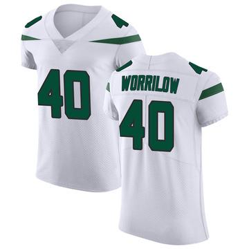 Men's Nike New York Jets Paul Worrilow Spotlight White Vapor Untouchable Jersey - Elite