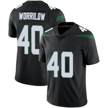 Men's Nike New York Jets Paul Worrilow Stealth Black Vapor Jersey - Limited