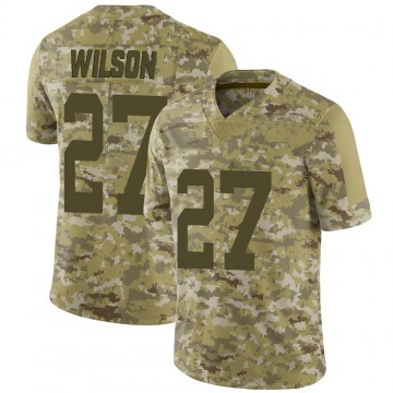 Men's New York Jets Quincy Wilson Camo 2018 Salute to Service Jersey - Limited