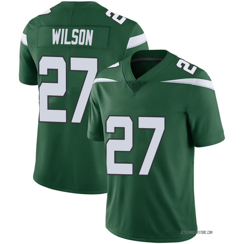 Men's Nike New York Jets Quincy Wilson Green 100th Vapor Jersey - Limited