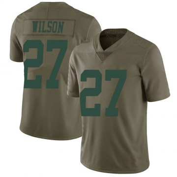 Men's New York Jets Quincy Wilson Green 2017 Salute to Service Jersey - Limited