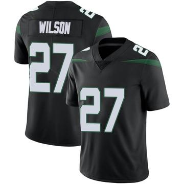 Men's Nike New York Jets Quincy Wilson Stealth Black Vapor Jersey - Limited