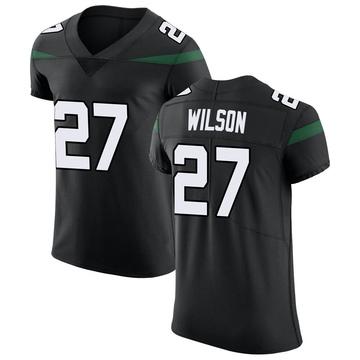 Men's Nike New York Jets Quincy Wilson Stealth Black Vapor Untouchable Jersey - Elite