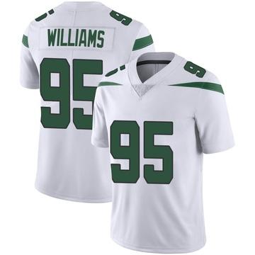 Men's Nike New York Jets Quinnen Williams Spotlight White Vapor Jersey - Limited