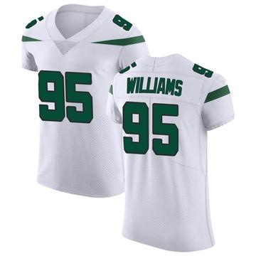 Men's Nike New York Jets Quinnen Williams Spotlight White Vapor Untouchable Jersey - Elite