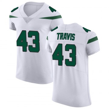 Men's Nike New York Jets Ross Travis Spotlight White Vapor Untouchable Jersey - Elite
