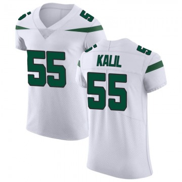 Men's Nike New York Jets Ryan Kalil Spotlight White Vapor Untouchable Jersey - Elite