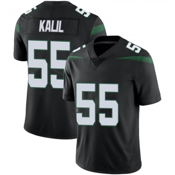 Men's Nike New York Jets Ryan Kalil Stealth Black Vapor Jersey - Limited