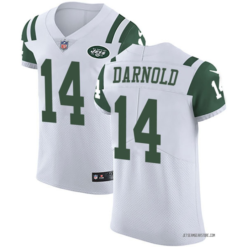 new styles 53f0f ea17e Men's Nike New York Jets Sam Darnold White Vapor Untouchable Jersey - Elite