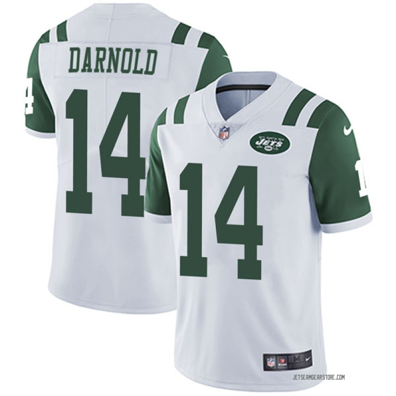 best loved d22cf 29200 Men's Nike New York Jets Sam Darnold White Vapor Untouchable Jersey -  Limited