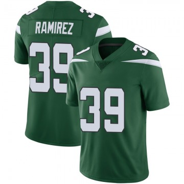 Men's Nike New York Jets Santos Ramirez Green 100th Vapor Jersey - Limited