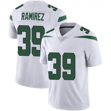 Men's Nike New York Jets Santos Ramirez Spotlight White Vapor Jersey - Limited