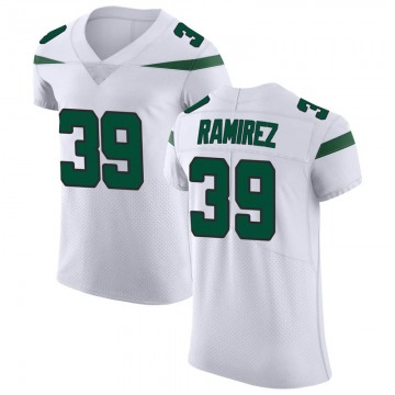 Men's Nike New York Jets Santos Ramirez Spotlight White Vapor Untouchable Jersey - Elite