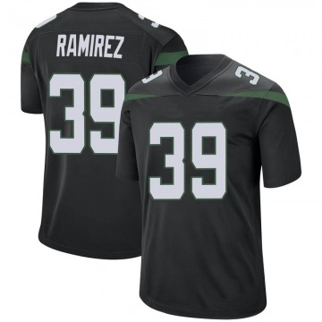 Men's Nike New York Jets Santos Ramirez Stealth Black Jersey - Game