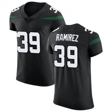 Men's Nike New York Jets Santos Ramirez Stealth Black Vapor Untouchable Jersey - Elite