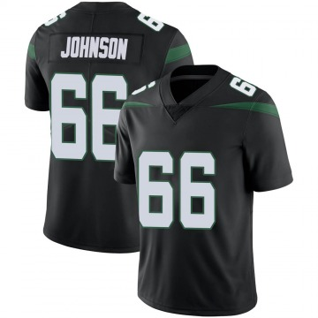 Men's Nike New York Jets Sterling Johnson Stealth Black Vapor Jersey - Limited