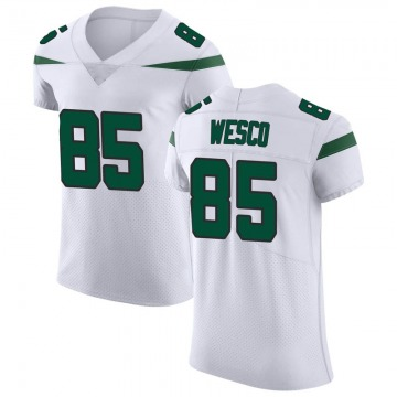 Men's Nike New York Jets Trevon Wesco Spotlight White Vapor Untouchable Jersey - Elite