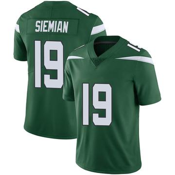 Men's Nike New York Jets Trevor Siemian Green 100th Vapor Jersey - Limited