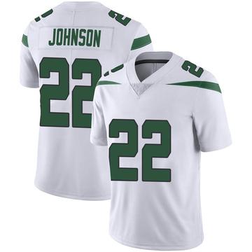 Men's Nike New York Jets Trumaine Johnson Spotlight White Vapor Jersey - Limited