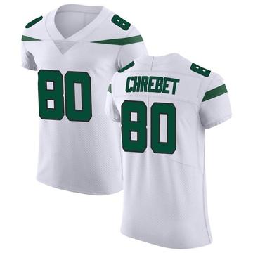 Men's Nike New York Jets Wayne Chrebet Spotlight White Vapor Untouchable Jersey - Elite