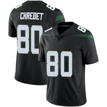 Men's Nike New York Jets Wayne Chrebet Stealth Black Vapor Jersey - Limited